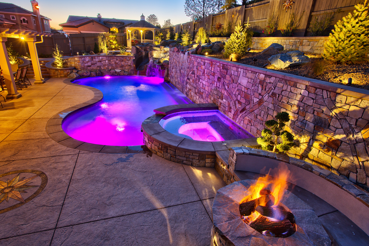 We Are A Custom Swimming Pool Builder And Swimming Pool Remodeler. We Also  Build Custom Spas, Fire Pits, Outdoor Kitchens And Complete Backyard Living  ...